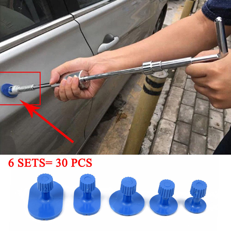 Car Body Pulling Tabs Paintless Repair Tools Puller Tabs Blue Plastic 30pcs Cat Dent Repair