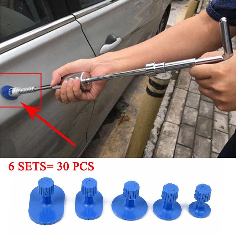 Car Body Pulling Tabs Paintless Repair Tools Puller Tabs Blue Plastic 30pcs Cat Dent Repair