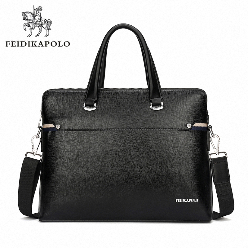 Luxury Business Briefcase Men s Commercial PU Leather Handbag Sacoche Homme Marque Male Large Laptop Bags
