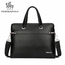 Luxury Business Briefcase Men s Commercial PU Leather Handbag Sacoche Homme Marque Male Large Laptop Bags
