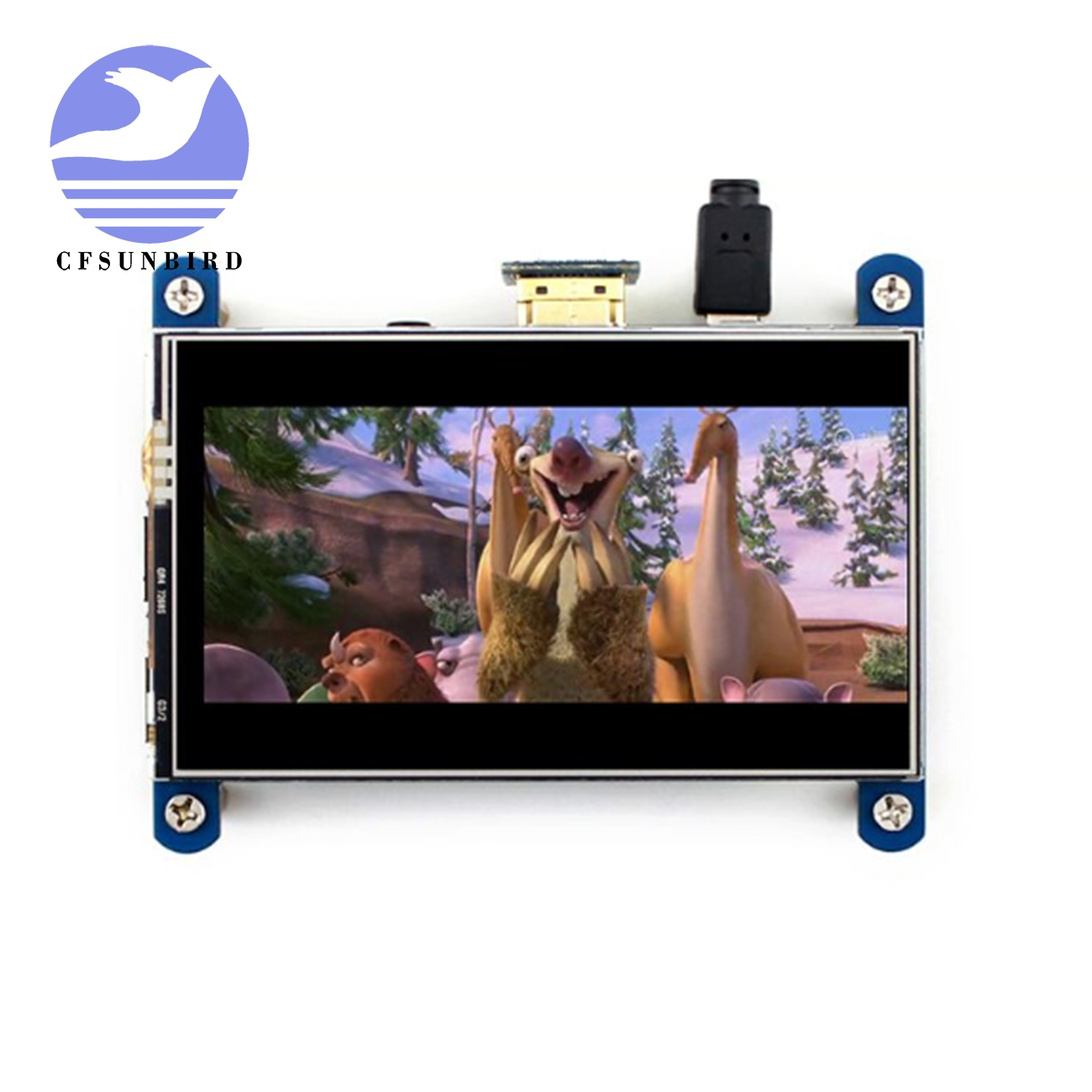 New for Raspberry display 4 inch HDMI LCD resistive touch screen IPS screen 800x480 HD