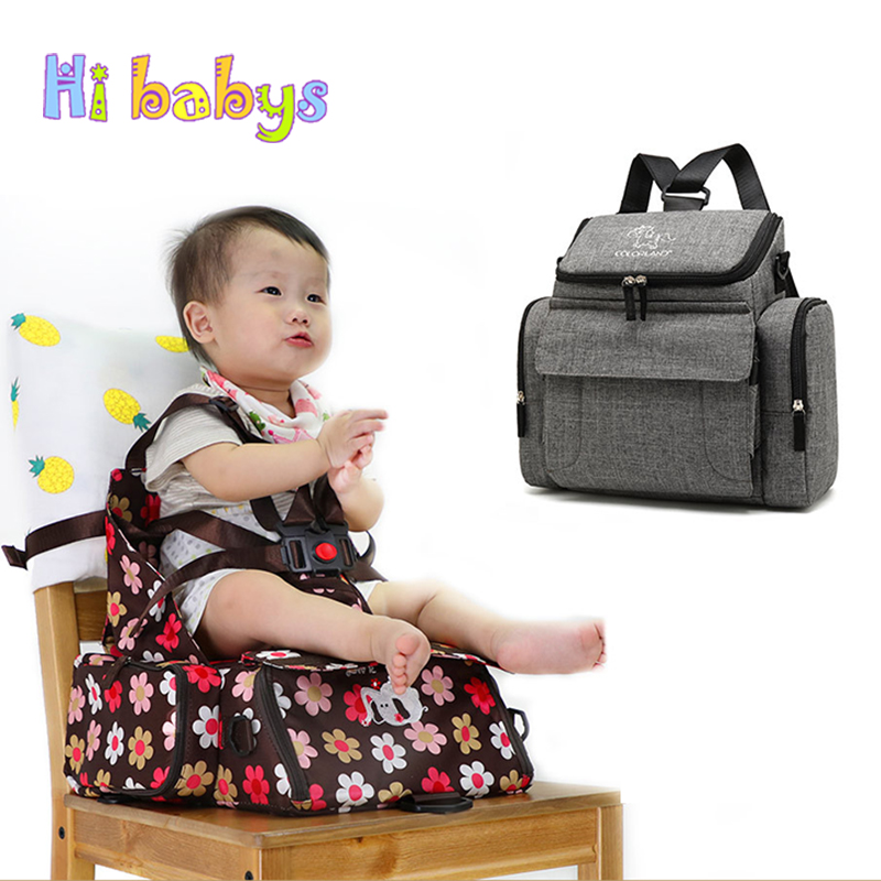 Mummy bag Dining Chair Bags Diaper Backpack Stroller Bags Multifunctional Maternity Travel Portable Folding Baby Care Backpack crazyfit mesh hollow out sport tank top women 2018 shirt quick dry fitness yoga workout running gym yoga top clothing sportswear