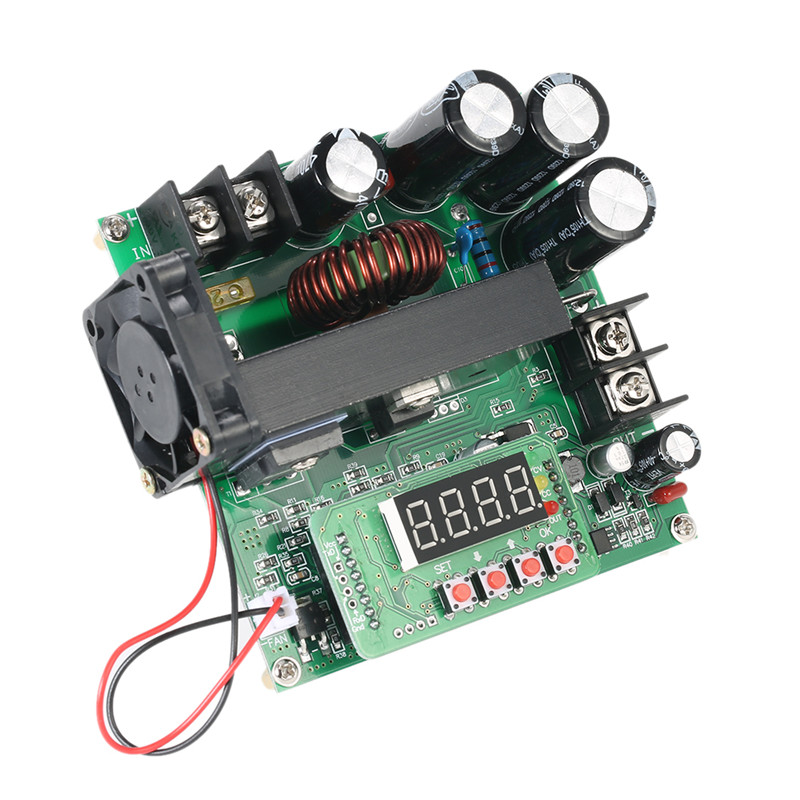900W Digital Control DC-DC Boost Module 0-15A IN 8-60V OUT 10-120V Step-up Converter Power Supply CC/CV LED Display E1599 high power updated 1200w boost dc dc cc cv step up power module on board regulator solar 12 80v continuously adj