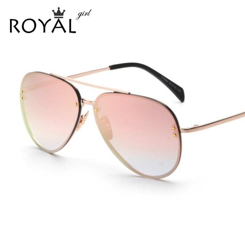 Ladies Metal Frame Glasses : ROYAL GIRL Fashion New Women Sunglasses Metal Frame ...