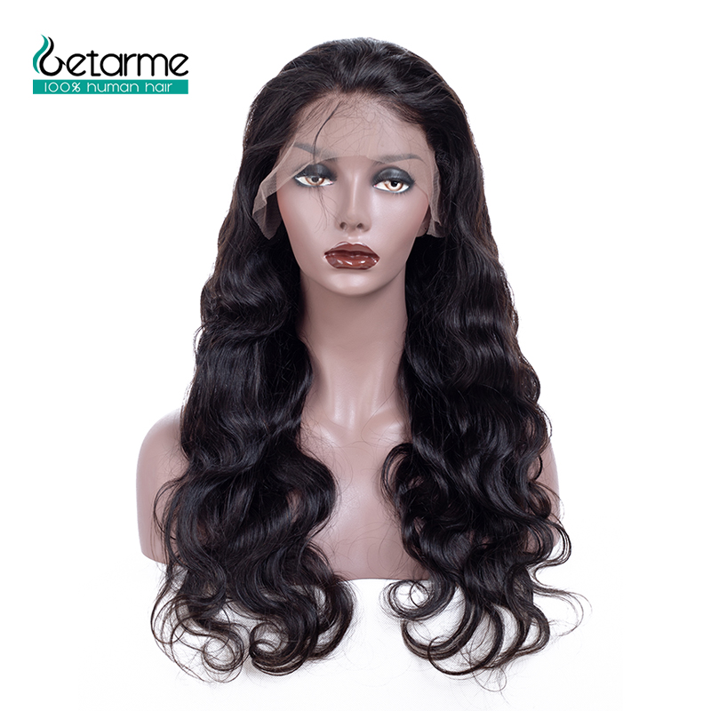 12x3 Body Wave Lace Front Human Hair Wigs For Black Women Pre Plucked Hairline With Baby Hair Brazilian Non Remy Hair 130%