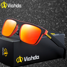 f084c90ab Viahda 2019 Nova Marca Squared Polarized Óculos Óculos de Sol Dos Homens Do  Esporte Designer de