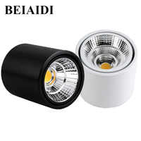 BEIAIDI 5/7/10W Led Downlight Living Room Background Lamp Angle Adjustable LED Ceiling Light Fixtures For Bar Shop Restaurant LED Downlights    -