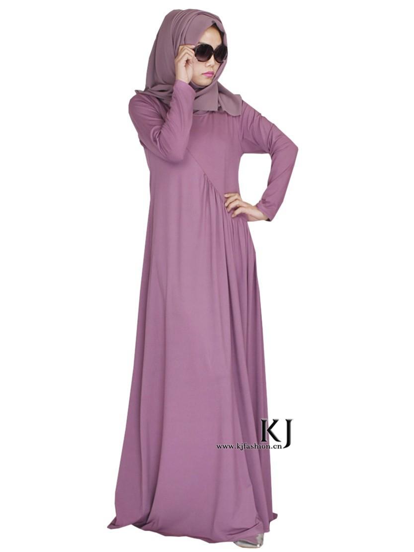 b85060ee241 2015 muslim long sleeve maxi dress djellaba high quality cotton dubai robe  arab traditional clothing women burqa KJ20150203-in Islamic Clothing from  ...