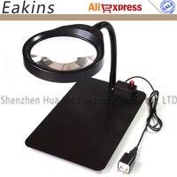 8X Multifunktions HD objektiv LED Einstellbare Desktop Lupe 36 pc LED Für pcb Überprüfen Reparatur/Ältere Lesen/ reparatur Steht-in Lupen aus Werkzeug bei