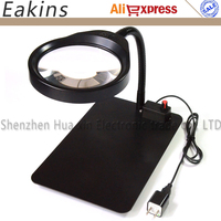 8X Multifunction HD Lens LED Adjustable Desktop Magnifying Glass 36pc LED For Pcb Check Repair Elderly