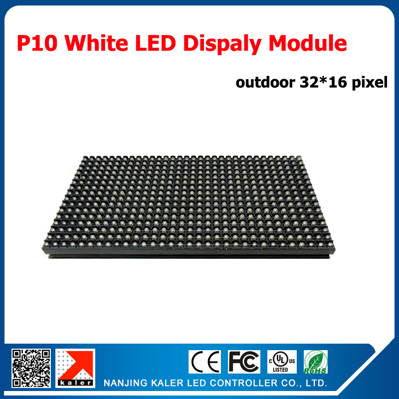 TEEHO 3pcs P10 Outdoor White LED Display Modules+ 1pcs Running Text Display Control Card+1pcs Power Supply For LED Display Sign