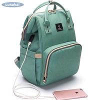2018 USB Phone Charger Mummy Bag Large Capacity WaterProof Diaper BackPack Maternity Carry Bolsa Luiertas Baby