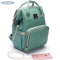 2018 USB Phone Charger Mummy Bag Large Capacity WaterProof Diaper BackPack Maternity Carry Bolsa Luiertas Baby
