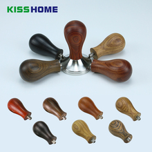 7 Solid Wood Coffee Tamper Handle without Base Natural Grain Scent Powder Hammer with 8mm Screw Accessories