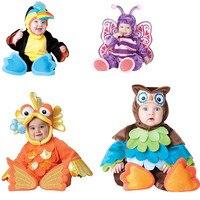 2017 Autumn Halloween Cartoon Baby Romper Sets Kids Girls Christmas Animal Custom Cosplay Jumpsuits Infant Clothes