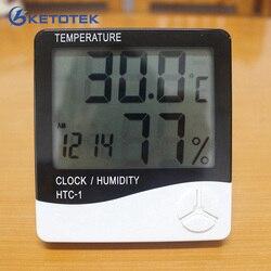 Ketotek Digitaler Raum LCD Thermometer Elektronische Temperatur Feuchtigkeit Meter Hygrometer Wetter Station Indoor Wecker HTC-1
