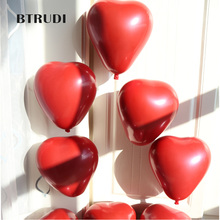 BTRUDI 12 20pcs Creative Ruby Double-deck Love Balloon Birthday Party Marriage Room Decorated with Pomegranate Balloo