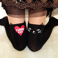 Wholesales summer 2017 Cheap Women Sexy Cute Love Cat Knee High Tattoo Hearts Tights Pantyhose