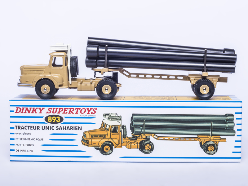 ATLAS DINKY TOYS SUPERTOYS 893 TRACTEUR UNIC SAHARIEN 1 43 Alloy Diecast Car model Toys Model for Collection in Model Building Kits from Toys Hobbies