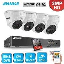 ANNKE 4CH 3MP 5in1 font b CCTV b font DVR HDMI Hybrid 4PCS 3MP Smart IR