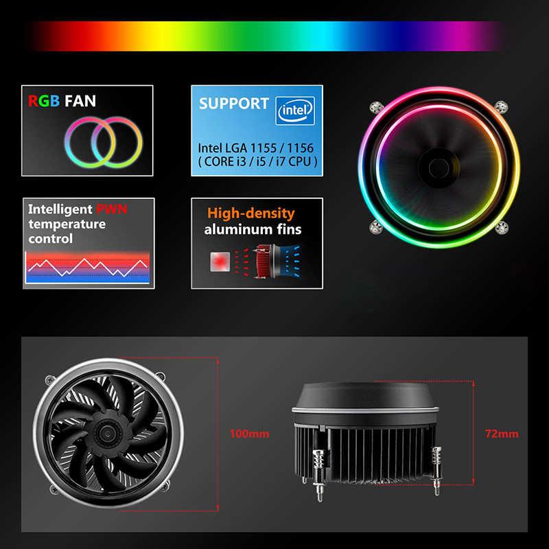 مروحة تبريد وحدة المعالجة المركزية من dark flash Aigo shadow أنبوب تبريد لوحدة المعالجة المركزية بالوعة حرارية AMD Intel صامتة من 4 سنون وحدة معالجة مركزية تبريد مروحة تبريد LGA 115X