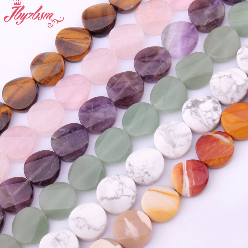 16mm Round Coin Fluorite Crystal Tiger Eye Beads Natural Stone Beads For DIY Necklace Earring Jewelry Making 15 Free Shipping crystal heart shape crystal fancy stone point back glass stone for diy jewelry accessory 8mm 10mm12mm 14mm 16mm 18mm 23mm