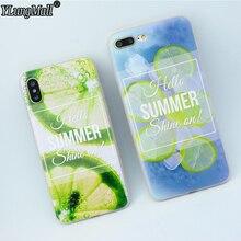 YLungMall 2018 Summer Fruit Lemon Phone Case for iPhone X Case Matte Soft TPU Cover Fundas iPhone 7Plus 8 7 6 6s Plus Case Coque