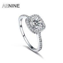 AENINE luxe 1Ct cubique zircone Anneaux de mariage bijoux mosaïque strass cristal bague de fiançailles pour les femmes Anneaux L101009438