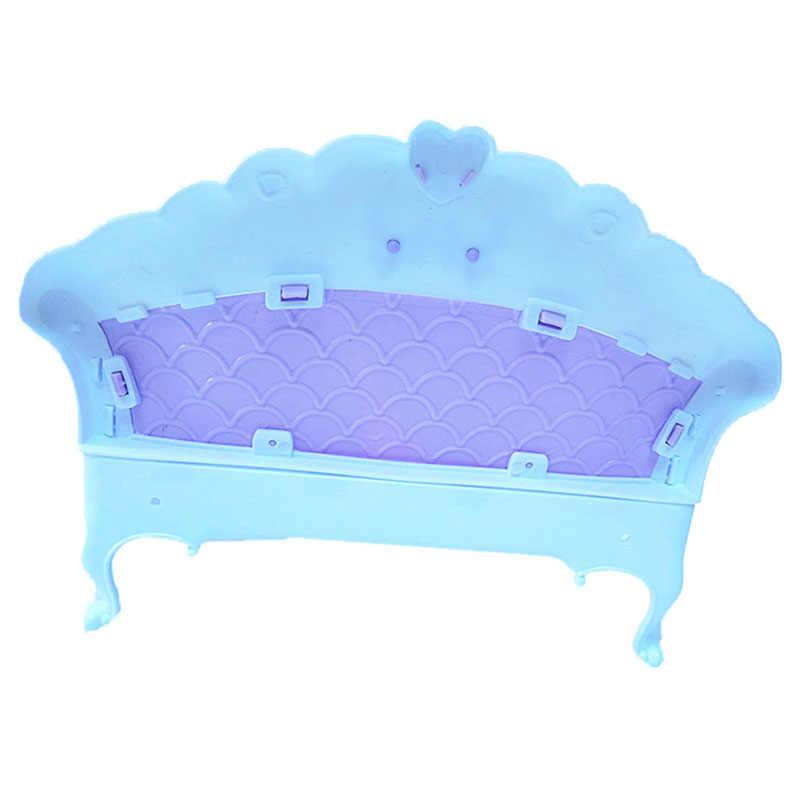 6 шт миниатюрная кукольная мебель комплект игрушки поделки ручной работы Пластик Европейский Стиль диван стул, стол лампа Вилла для кукол прикрепленное изображение
