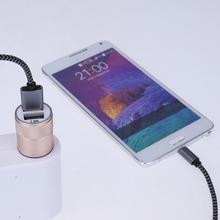 Dual USB Ports Car Charger Aluminium Alloy 2.1A Car Cigarette Lighter