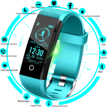 Купить с кэшбэком LIGE Sport Smart Bracelet Men Smart Watch Women Fitness Tracker Smart Wristband Heart Rate Blood Pressure Monitor Pedometer+Box