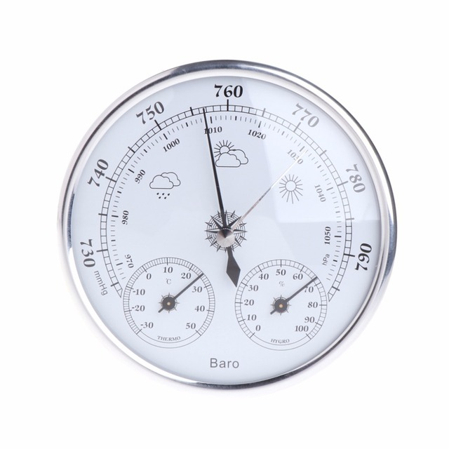 Household Weather Station Barometer Thermometer Hygrometer Wall Hanging Tester Tools