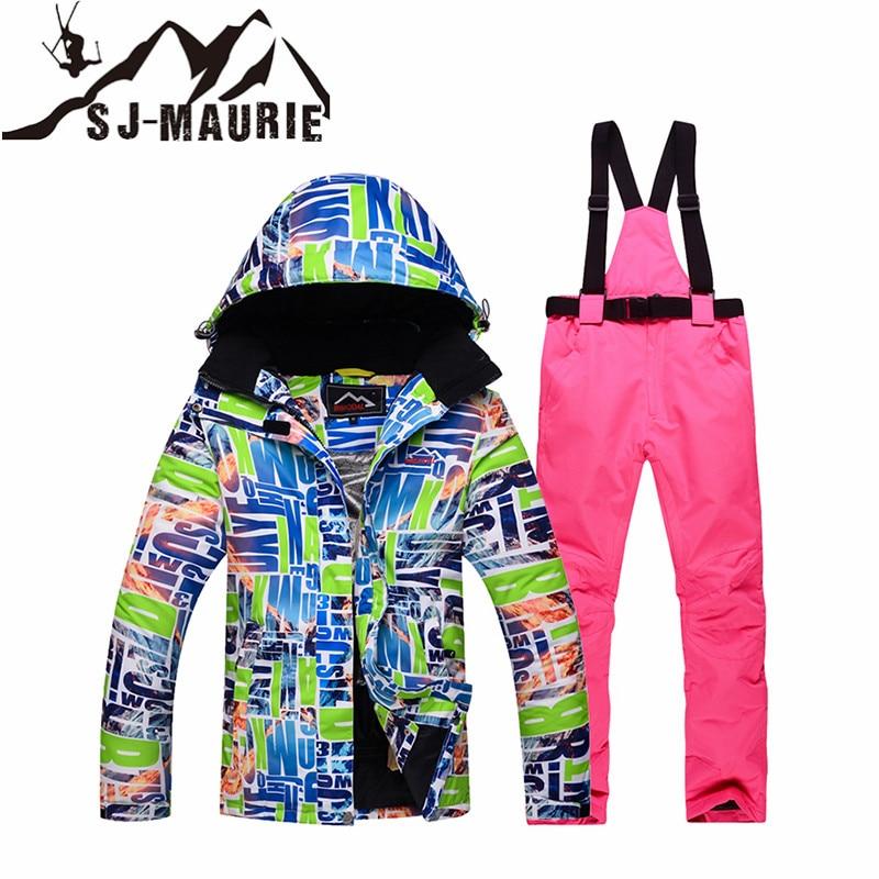 SJ-MAURIE Snowboard Ski costume femmes veste de Ski + pantalon en plein air hiver imperméable coupe-vent neige costumes randonnée Ski veste