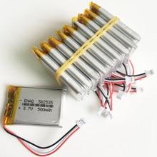 10 sztuk 3.7 V 500 mAh Litowo-polimerowa LiPo akumulator JST 1.0mm 3pin złącze 582535 dla Mp3 GPS bluetooth zegarek z kamerą