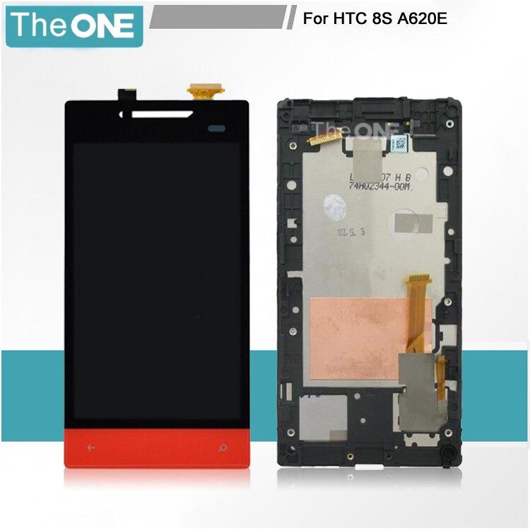 Envío libre de dhl verde/azul/rojo/blanco lcd para htc windows phone 8 s a620e l