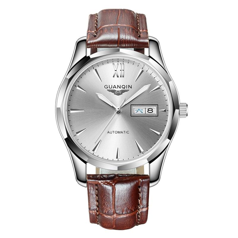 GUANQIN GJ16034 montres hommes de luxe marque lumineuse hommes montre automatique mécanique montres Date calendrier Relogio Masculino Reloj