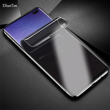 EXUNTON 3D Full Cover Soft Hydrogel Membrane Privacy Screen Protector Film for Samsung Galaxy S10e S10 S10 Plus Film Anti Spy membrane keypad film for 2711p k10c4a8 panelview plus 6 1000