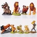 9 PCS 5 ~ 9 CM Alta O Rei Leão Brinquedos Figuras de Ação Anime Figuras Dos Desenhos Animados PVC