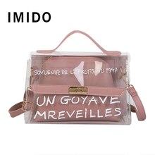 цены на Transparent Women Bag Over Shoulder Fashion Woman's Handbag Torebka Damska Clutch Female Clear Bag for Lady Casual Tote  в интернет-магазинах