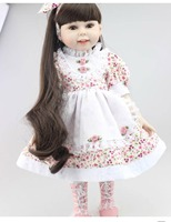 NPK Most popular 18inches full silicone fashion play doll education toy for girls birthday Gift
