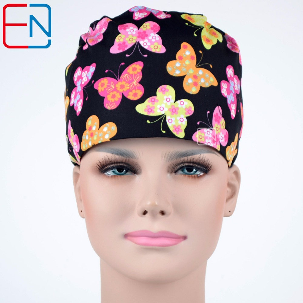 Hennar Women's Scrub Caps . Adjustable Medical Accessories Surgical Caps Cotton Facial For Doctor Nurse Work Scrub Hats Mask