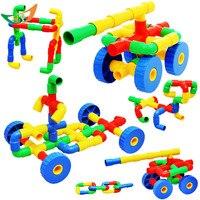 DIY Montażu rur wody plastikowe cegiełki rurociągu koło pasa zestawy edukacyjne oświecić bloki zabaw przyjaciół modelu zabawki