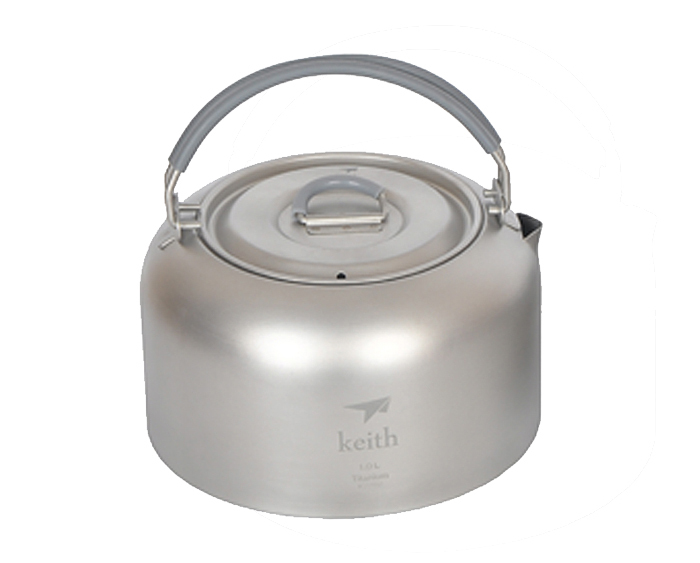 Keith Titanium Kettle Camping Tea Pot  Water Ware Outdoor Cookware  115g 1L KA101 30mm stainless steel zinc satin knob cabinet door drawer cupboard pull handle with screw