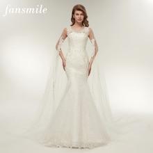 Fansmile Vestido De Noiva Angepasst Plus Größe Spitze Meerjungfrau Hochzeit Kleid 2020 Real Photo Vintage Braut Hochzeit Kleider FSM 112M