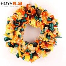 HOYVJOY Silk Wreath Decoration Christmas Halloween Festival Decor 30cm Hand on the Wall Colorful Two Styles