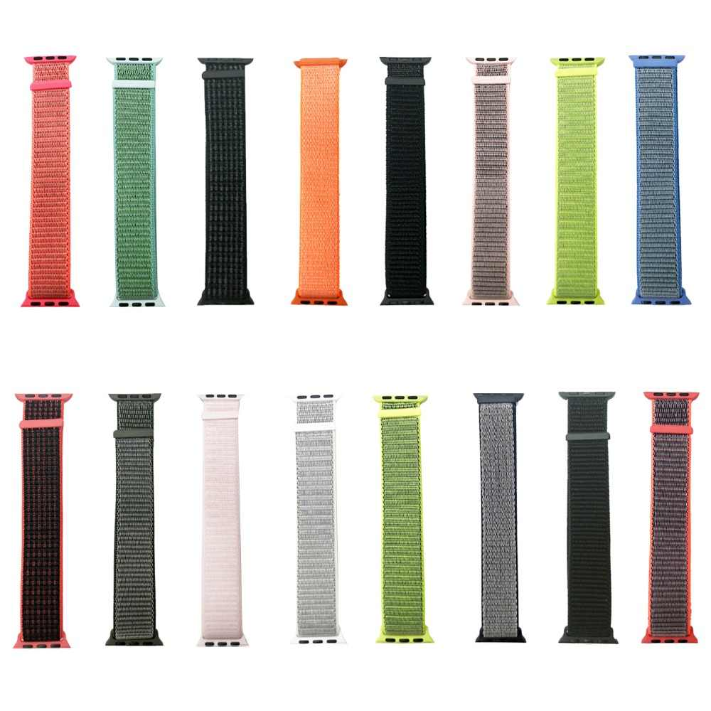Joyozy For Apple watch Band Nylon Sport Loop Wrist   For IWatch Series4 3 2 1Colorful pattern classic buckle