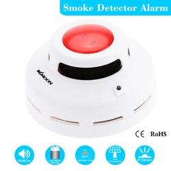 Standalone Detector de Fumaça Fotoelétrico de Alarme de Incêndio Sensor de Som Flash Alarme De Fumaça Teste Para Interior Home Security Segurança