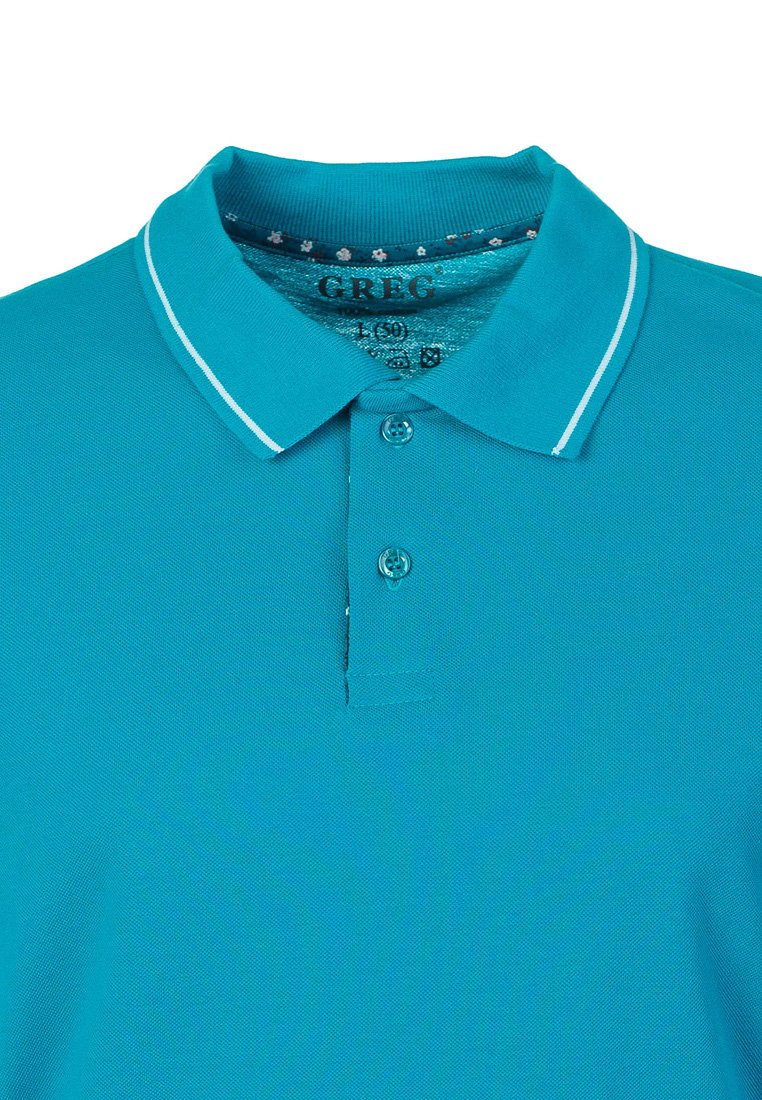 T Shirt polo short sleeve GREG G134 (turquoise) Turquoise 3d letters and banknote printed round neck short sleeve men s t shirt