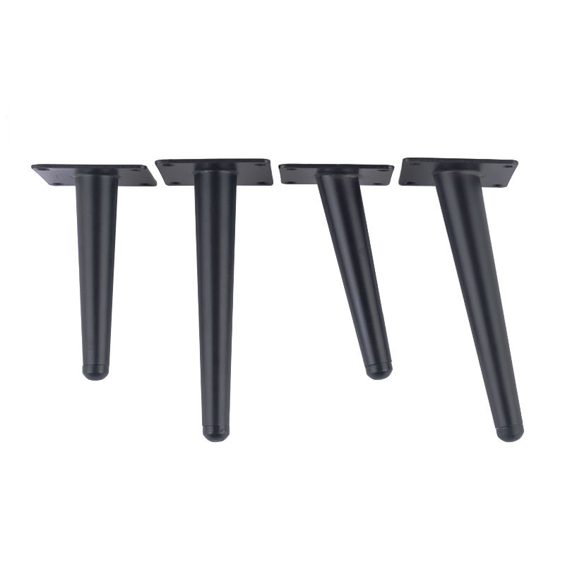 12 inch Furniture table legs Black Sofa Cupboard Cabinet Furniture Leg Feet  Coffee tea bar Stool chair Tapered leg Pack of 4