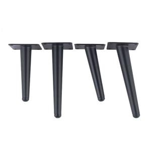 Image 4 - 12 inch Furniture table legs Black Sofa Cupboard Cabinet Furniture Leg Feet  Coffee tea bar Stool chair Tapered leg Pack of 4